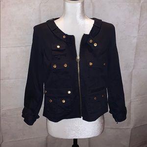 Chris Benz Moto Jacket Darkest Blue/Black Color